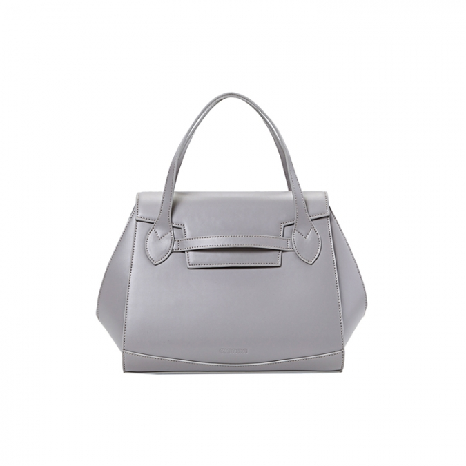 Grey Color Genuine Leather Handbags for Women