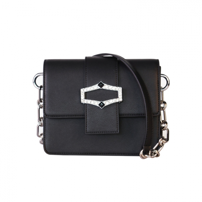 Black Single Sling Shoulder Bags